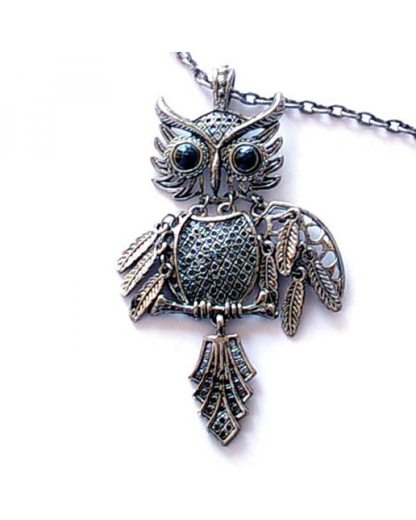 Ожерелье Филин сова на цепочке,украшения,  бижутерия, модная бижутерия, дешевая бижутерия, интернет магазин бижутерии, сумки, зонт, аксессуары, подарки