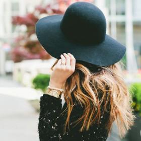 Модная шляпа блогеров и звезд из фетра, черная