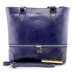 Кожаная сумка, Италия Navy blue