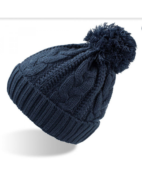 Шапка зимняя vogue от TM Atlantis, с флисом - вязанная шапка женская купить ее просто даже с бубоном