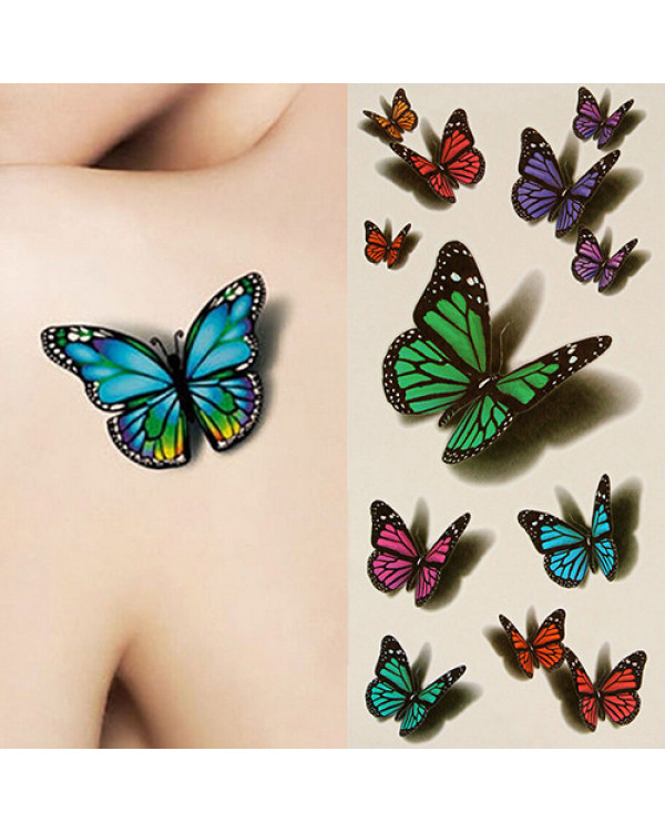 "3D flash taty ""Butterfly"" Тату формата 3D флеш тату - временные татуировки"