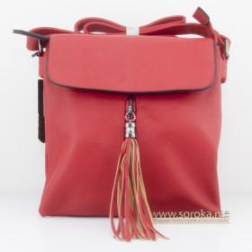 """Женская сумка кроссбоди """"Кисть"""", красная"""