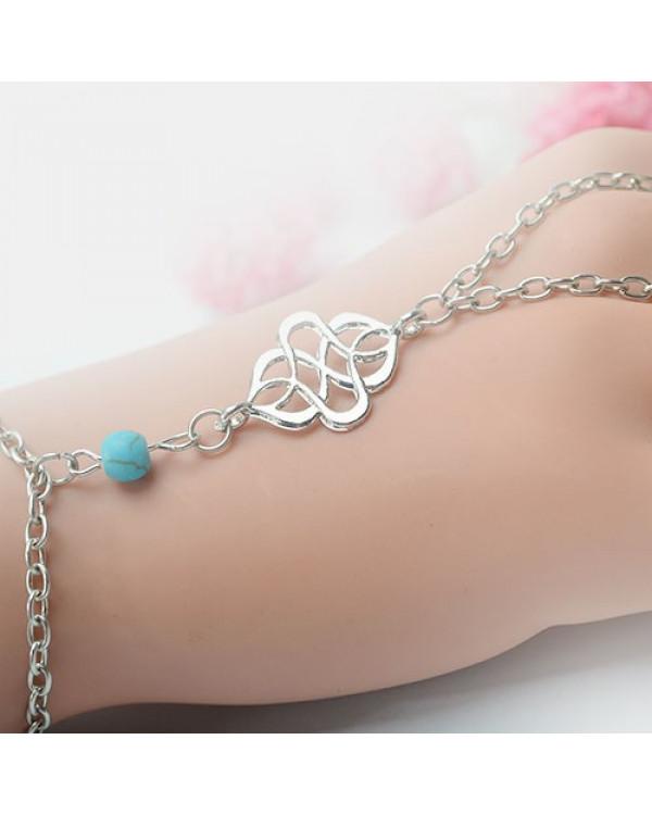 Слейв браслет с кольцом  Панжа браслет Denina – это этническое украшение.