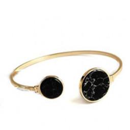 Модный браслет Черный мрамор, уценка