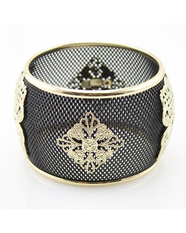Широкий черный браслет с золотом - красивые браслеты недорого живут на Сорока.Ми