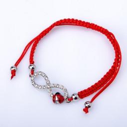 Красный браслет нить Бесконечность