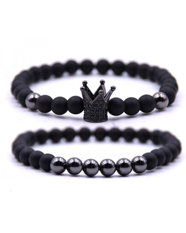 Парные браслеты из камня с короной - купите самое модное украшение сезона недорого на Сорока.Ми