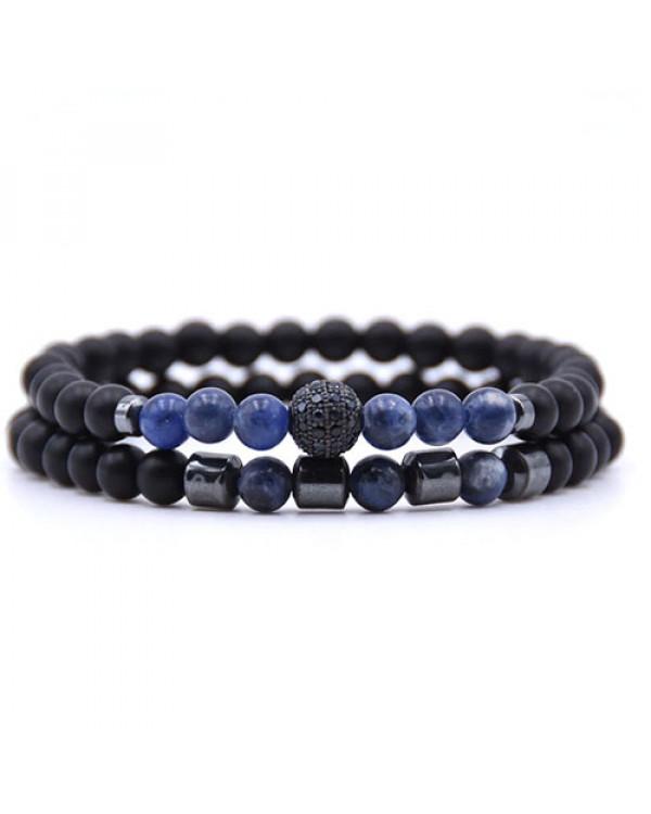 Парные браслеты из натуральных камней Кобальт - выглядят нереально стильно!