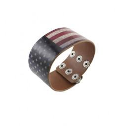 Кожаный браслет Американский USA dream
