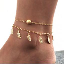 Браслет на ногу Gold Leaf