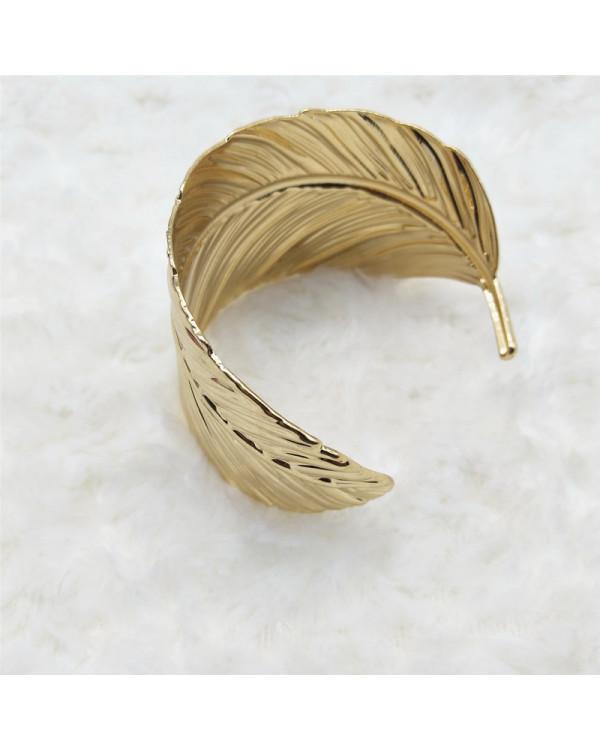 Браслет широкий Лист перо