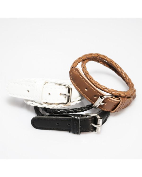 плетеные кожаные браслеты