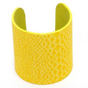 """Браслет желтый """"Кожаный"""""""