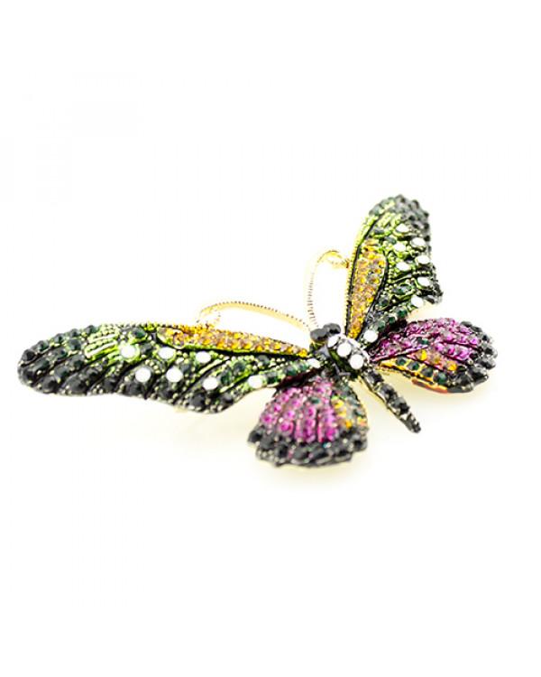 Брошь бабочка в камнях - купить брошку бижутерию нереальной красоты так просто!