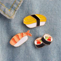 Набор пинов брошей Sushi, 3 шт