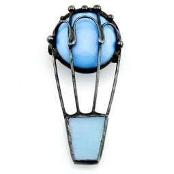 Брошь Воздушный шар из стекла
