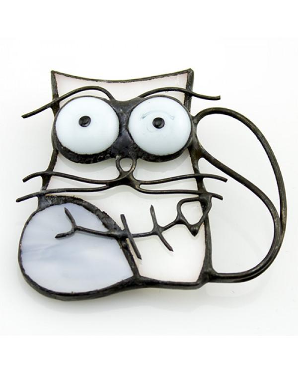 Брошь  Кошара - авторская брошь ручной работы из стекла! Оригинальные украшения ждут тебя!