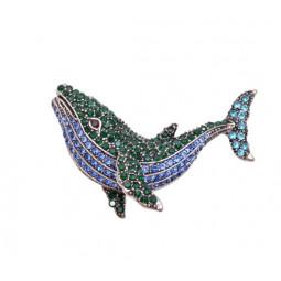 Брошь кулон Кит рыба