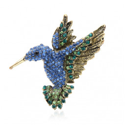 Брошь кулон колибри