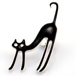 "Брошь ""Black cat"""