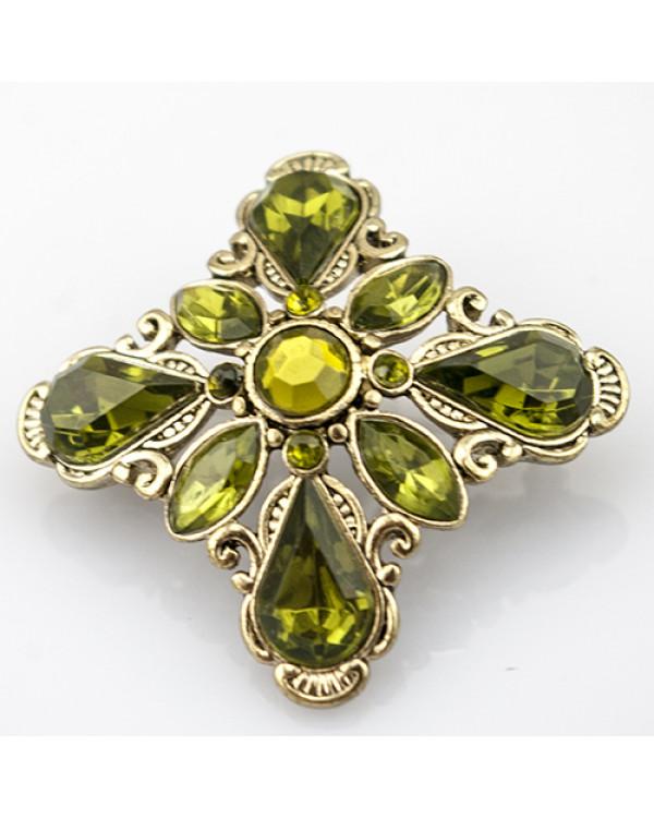 Брошь с камнями Винтаж - изысканное украшение для стильных и модных