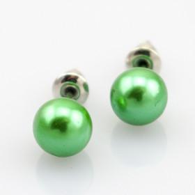 """Серьги пуссеты """"La Perle"""", зеленые"""