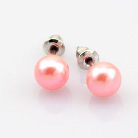"""Серьги пуссеты """"La Perle"""", розовые"""
