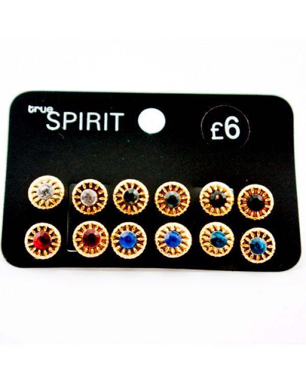 "Набор сережек ""Spirit"", 6 пар"
