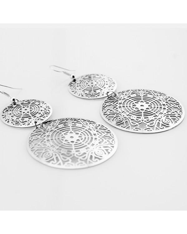 """Серьги висячие """"Арабески"""" -  женские серьги, оформленные в цвете благородного серебра"""