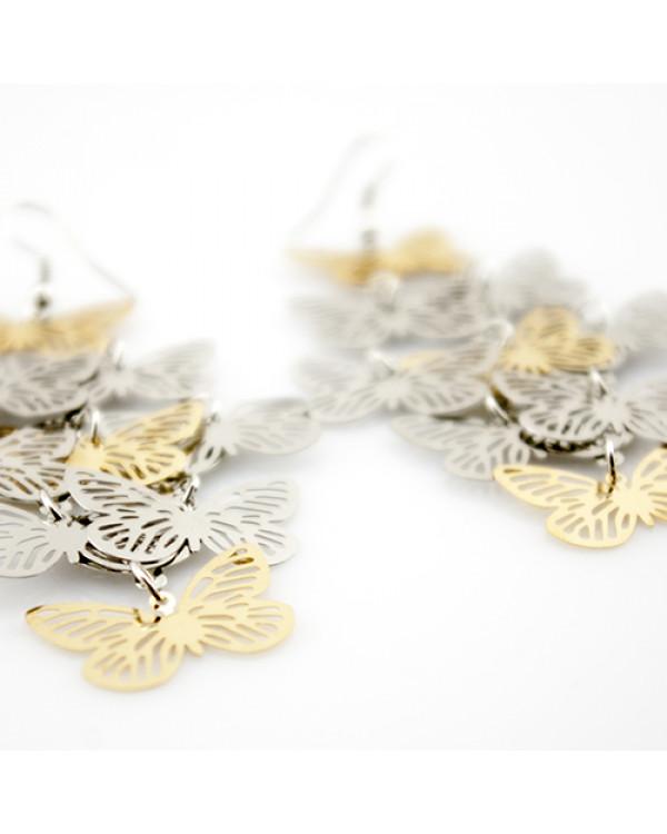 """Серьги длинные """"Бабочки в полете"""""""
