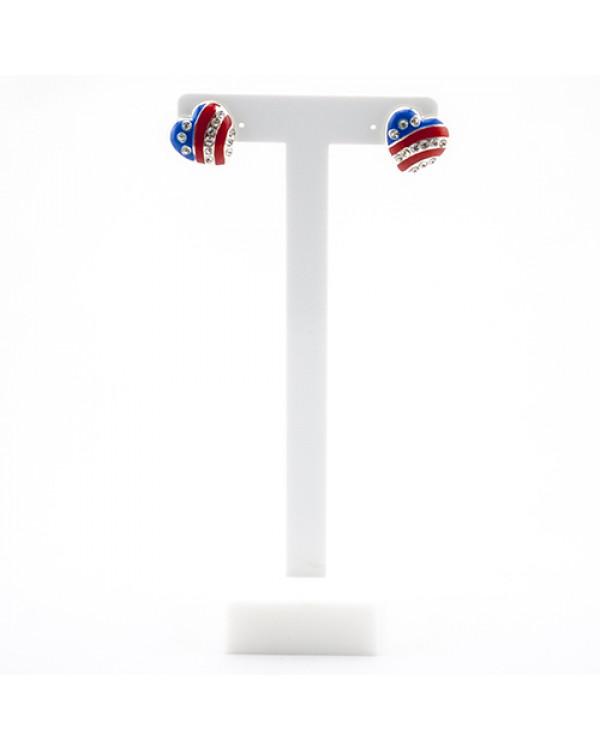 Серьги флаг USA идеально подходят для самобытного и стильного образа Уже на Сорока.Ми