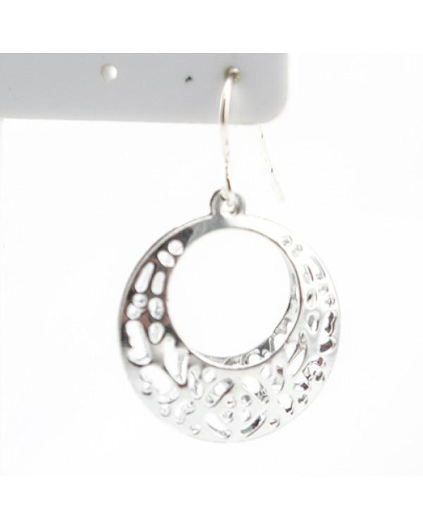 Серьги кружевные кольца Lazy silver