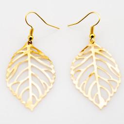 """Серьги """"Листья"""", золот"""