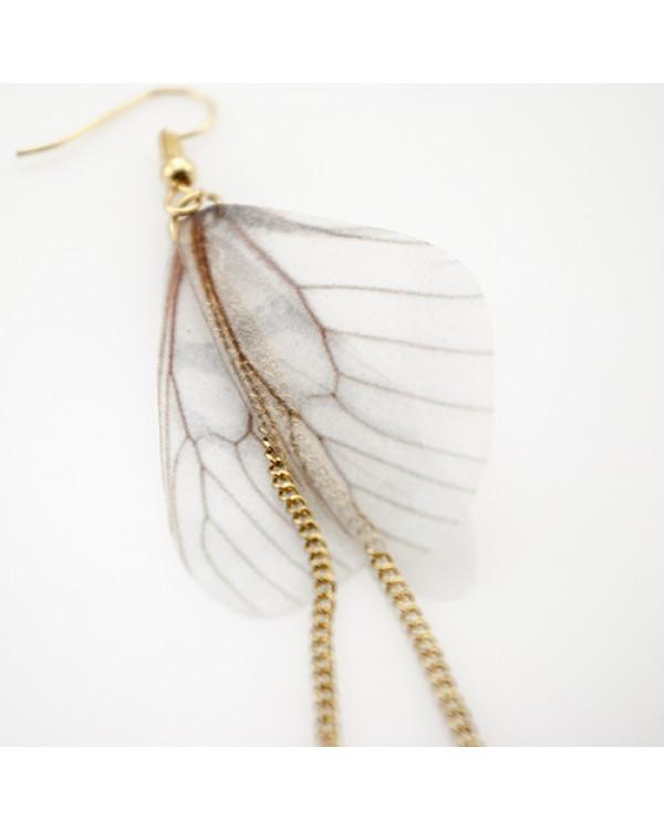 Длинные серьги бабочки из органзы - порхающие серьги чаруют!