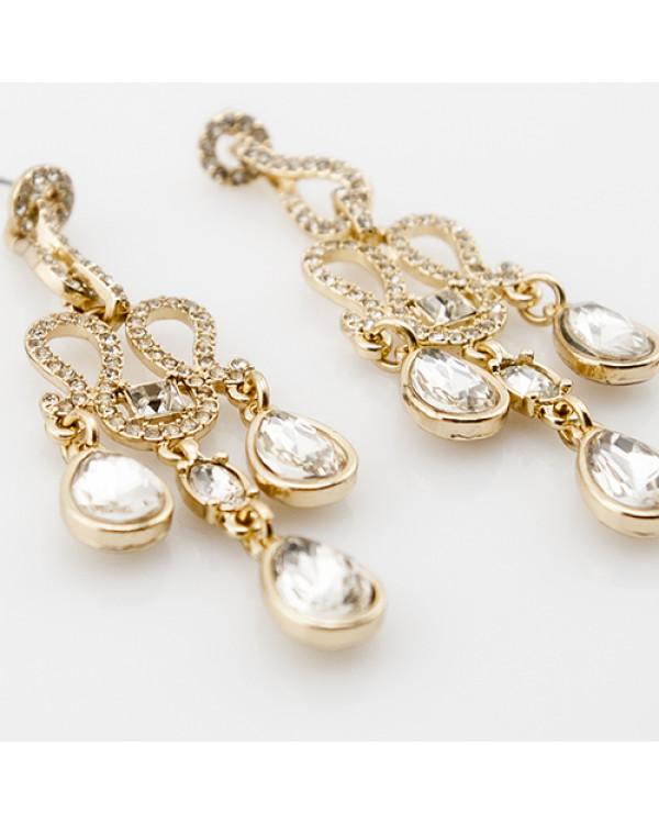 Серьги люстры или длинные висячие серьги с камнями - очень красивая бижутерия недорого!