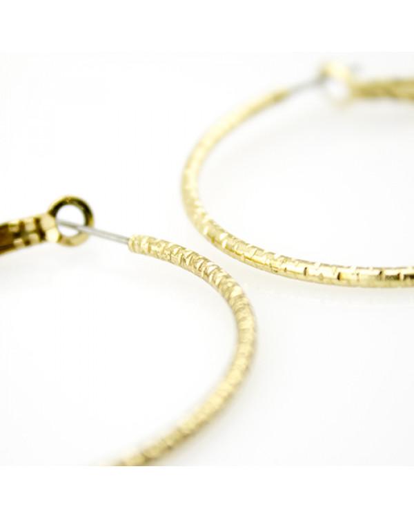 Серьги кольца Gold day