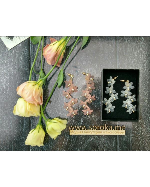 Серьги цветы купить в Украине и Киеве недорого можно прямо сейчас с Сорока.Ми