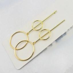 Модные серьги Simmery Circle gold