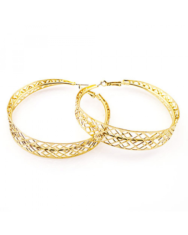 Большие серьги кольца - тренд модной бижутерии. Эти и другие украшения купить легко на Сорока.Ми недорого