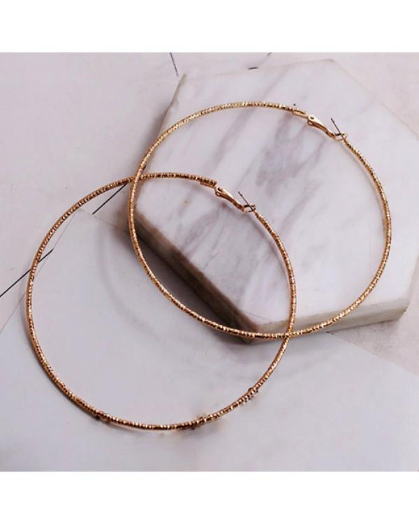 Большие серьги кольца Конго - стильные круглые серьги кольца недорого в магазине бижутерии Сорока.Ми