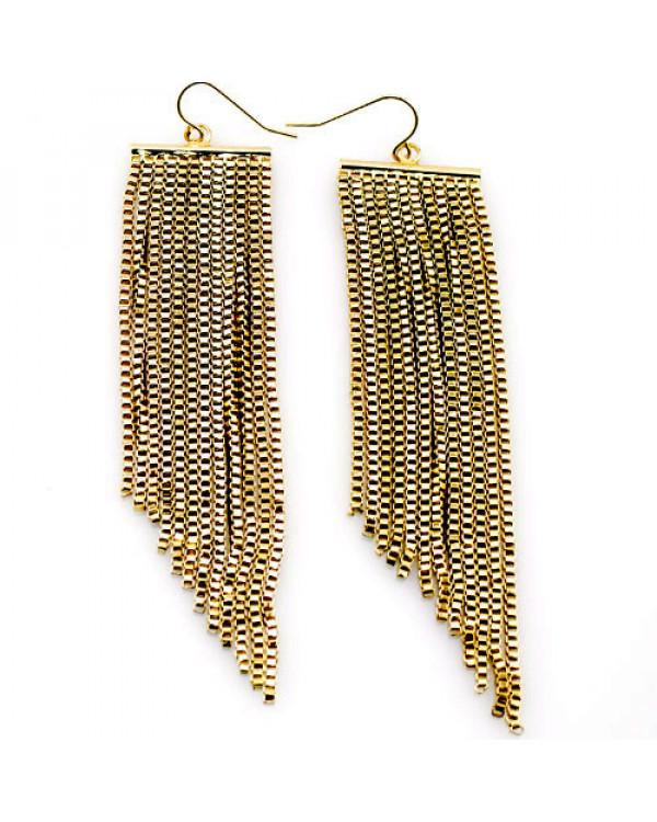 Серьги кисти цепочки  - модная бижутерия недорого от Сорока.Ми