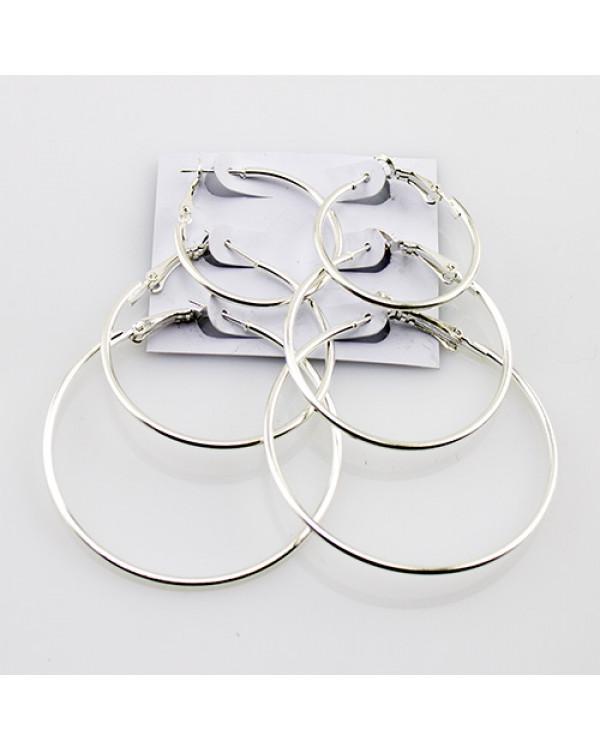 Серьги кольца конго Серебро-2, набор 3 пары очень дешево на Сорока.Ми