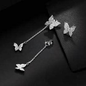 Серьги с серебряным покрытием 925 Бабочки