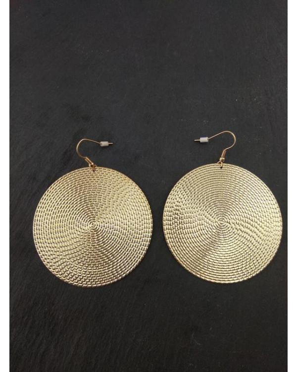 Модные серьги диск круглые - блистай стильно!