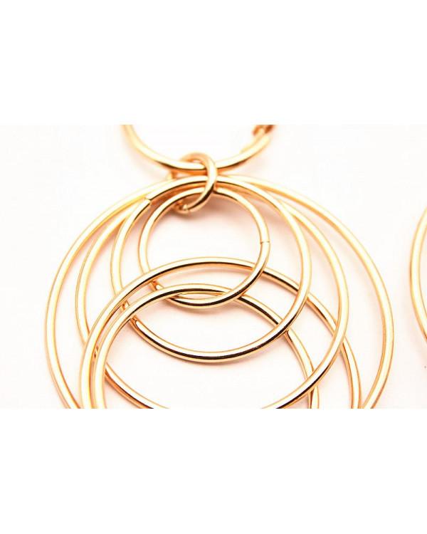 Серьги круглые кольца Sols