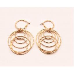 Сережки круглі кільця Sols