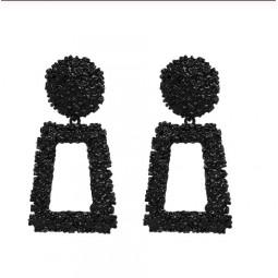 Сережки чорні піраміда fashion