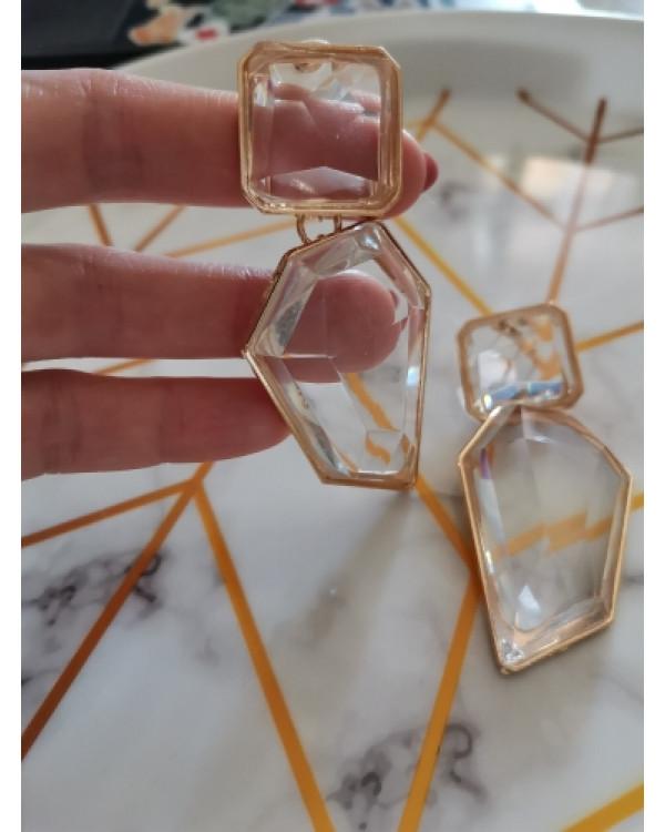 Массивные серьги Cristall