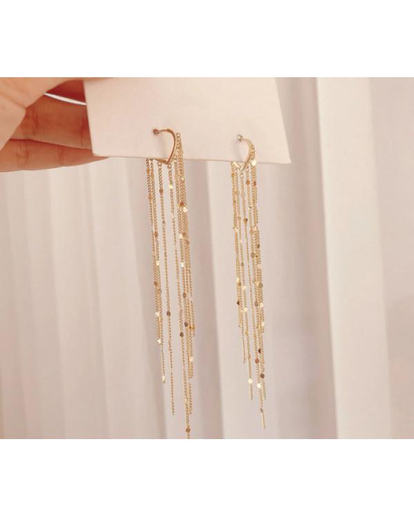 Серьги длинные цепочки подвески