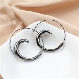Серьги кольца спирали